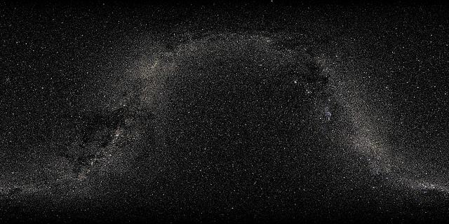 贴图素材 球面星空贴图 (tiff格式) (2880x1440)