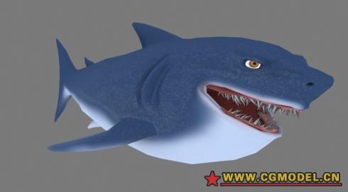 卡通鲨鱼-cg模型网(cgmodel)-让设计更有价值!