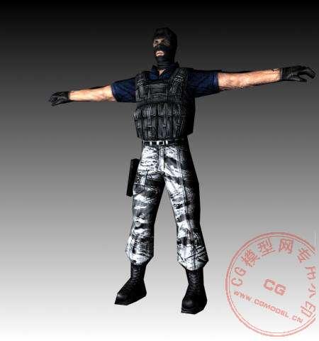 (独家)cs1.5全部人物模型和枪械模型