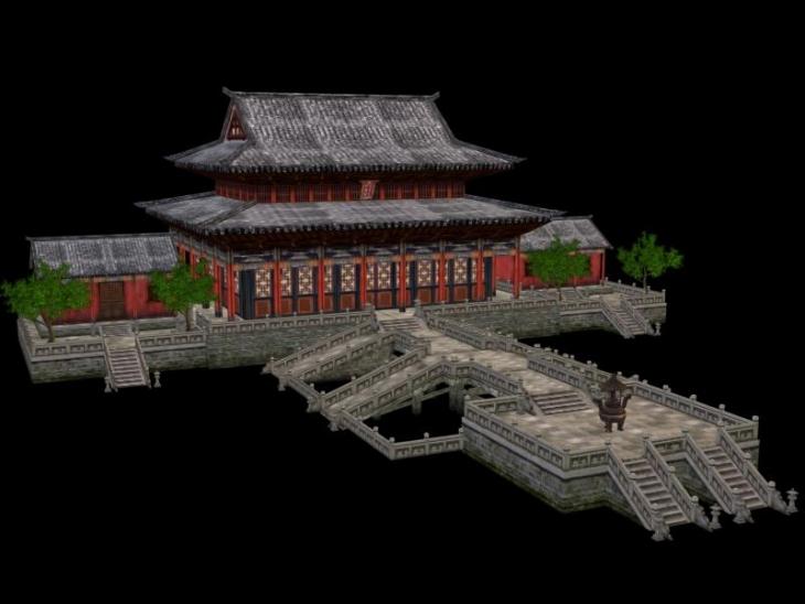 中國古代建筑房子之③-cg模型網(cgmodel)-專注cg模型