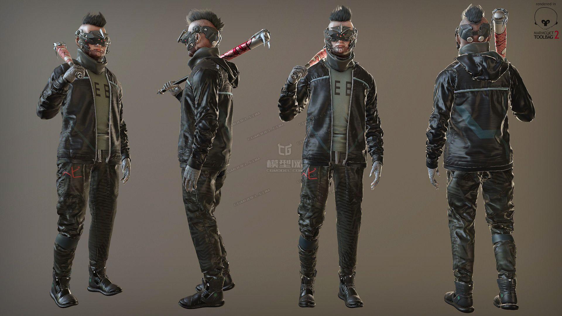 网络打手qq群_科幻角色Zetsuda 武装混混打手流氓-CG模型网(cgmodel)-让设计更有价值!