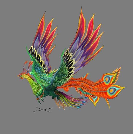 飞舞的凤凰,材质,贴图,灯光,齐全!图片