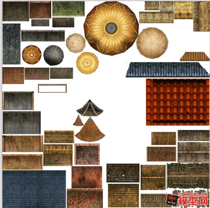 【传奇三】贴图素材欧式门.屋顶.窗户瓦片psd