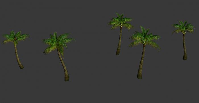 芭蕉海南椰子树大模型模型叶子下载-CG图形网如何在word中绘制热带图片