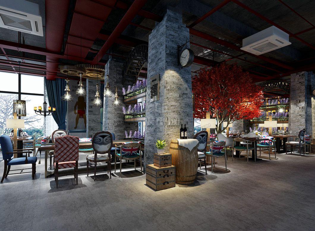 工業風咖啡廳 咖啡館 奶茶店 甜品店 西餐廳 咖啡零售店 店面設計裝修