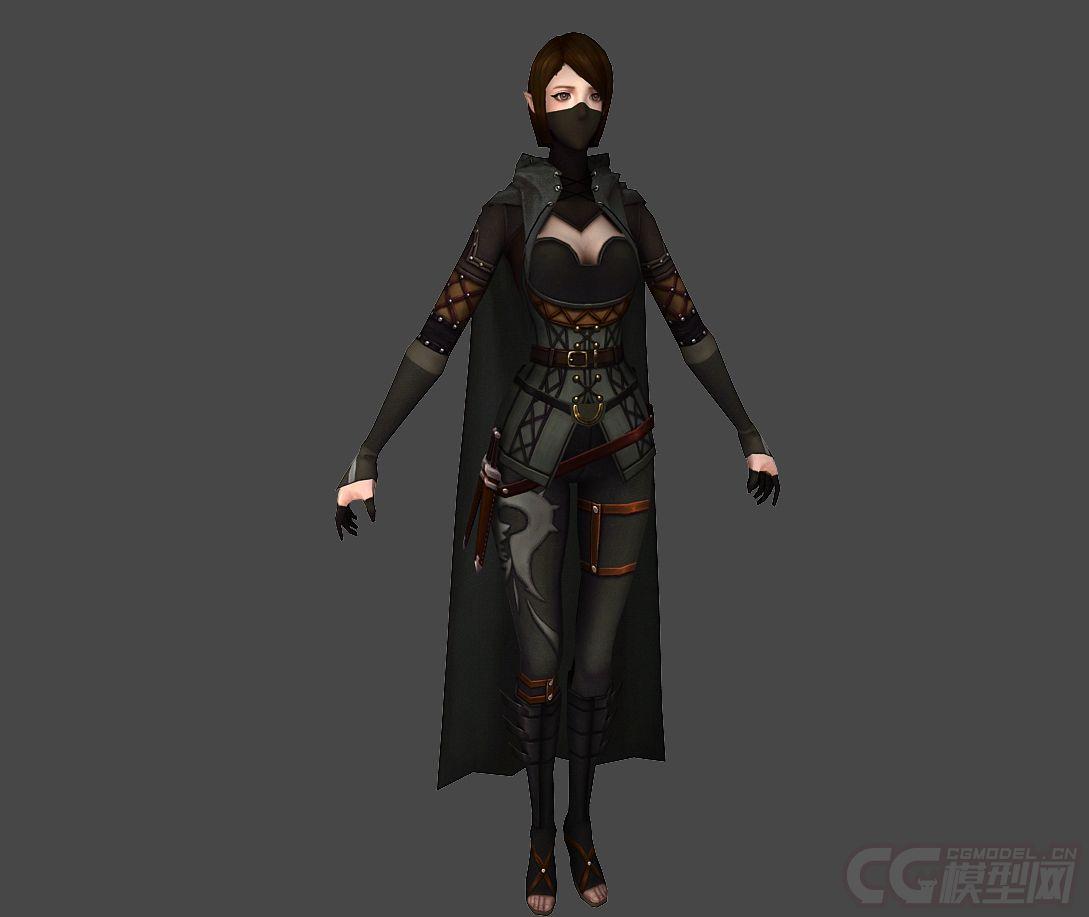 蒙面女刺客_古代人物女刺客蒙面女刺客侠女-CG模型网(cgmodel)-让设计更有价值!