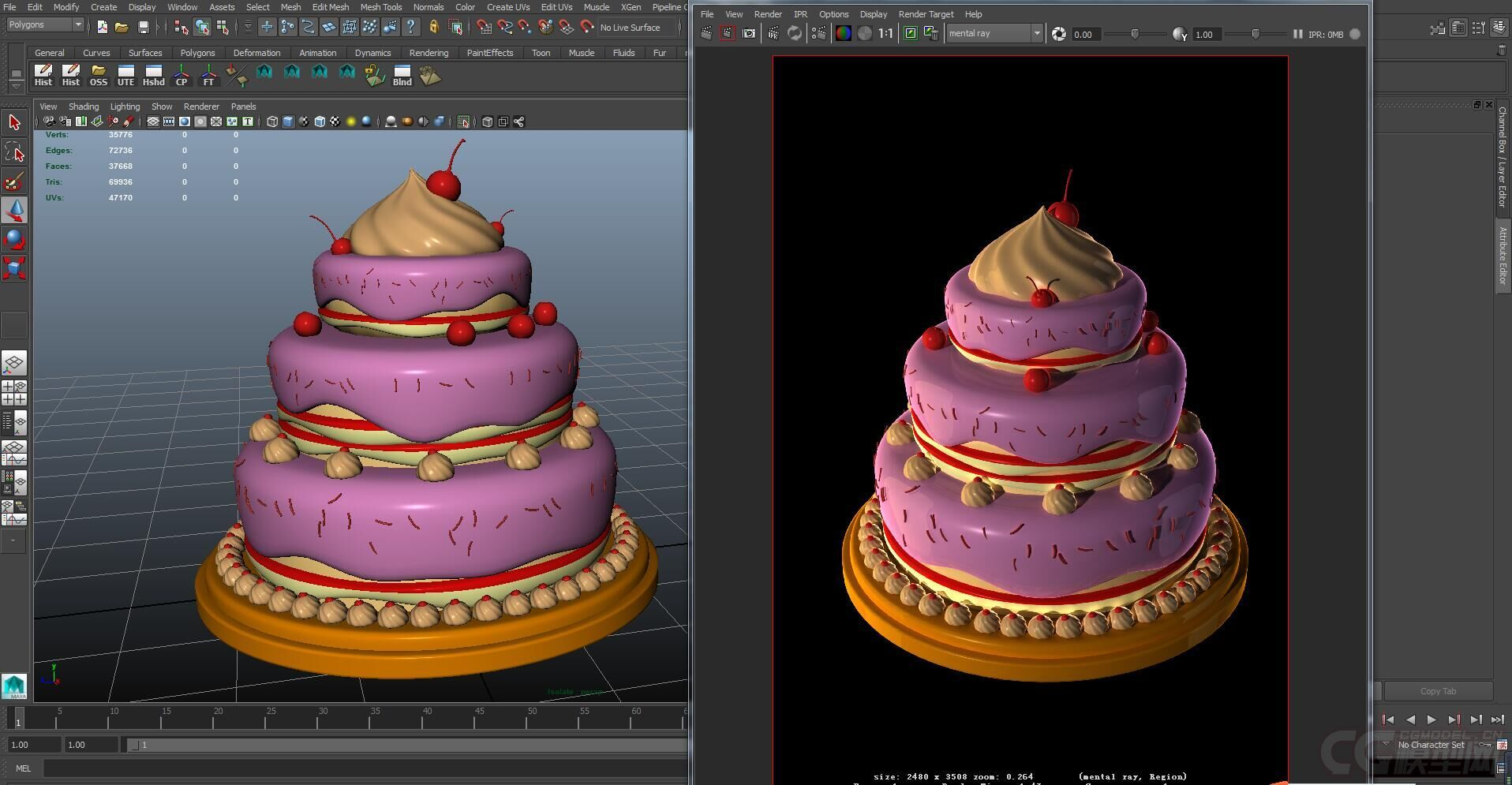 卡通版生日蛋糕_蛋糕 生日蛋糕 Q版蛋糕 卡通蛋糕-CG模型网(cgmodel)-让设计更有价值!