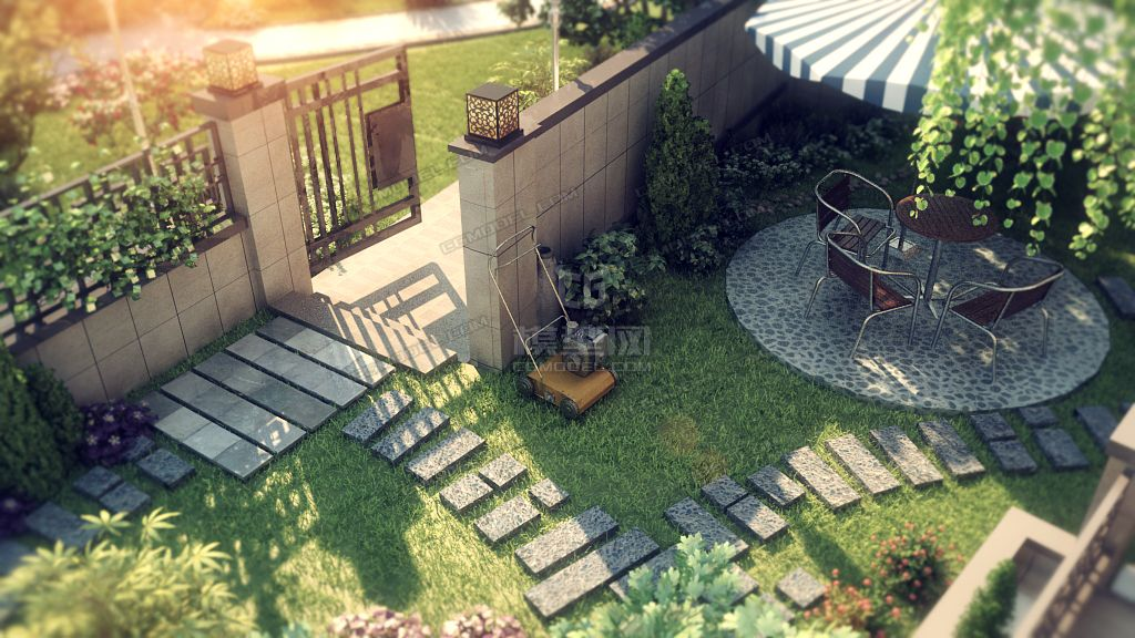 桂离宫庭院枯山水设计_合肥庭院设计公司_室内庭院水景设计