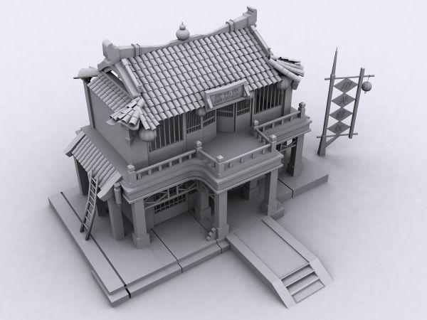 游戏建筑-cg模型网(cgmodel)-让设计更有价值!
