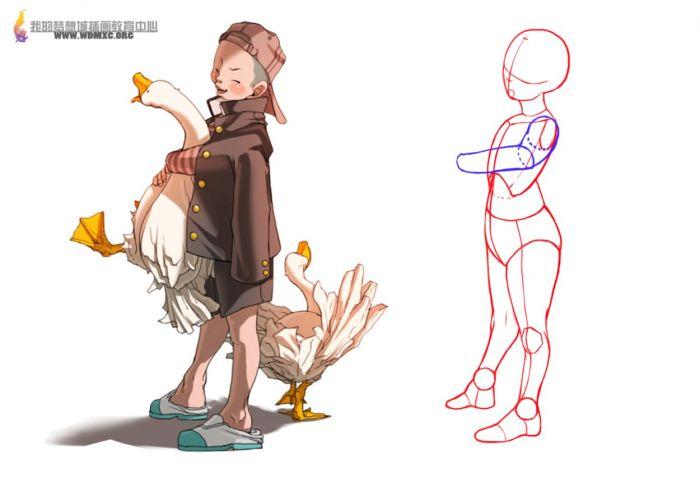 卡通人物骨骼造型