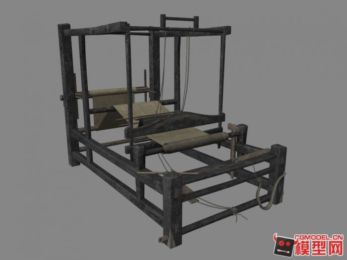 老式纺织机模型图片