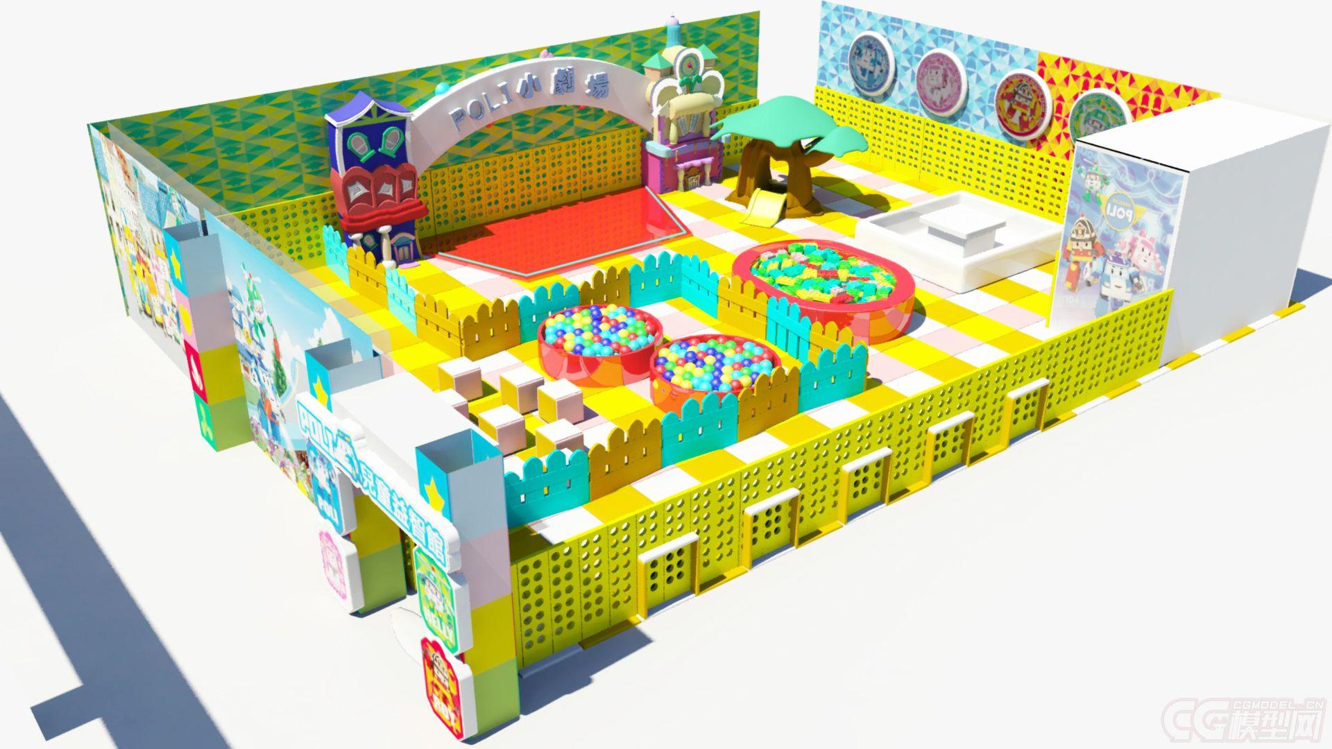 儿童游乐场经营范围_儿童游乐展厅,游乐场-CG模型网(cgmodel)-让设计更有价值!