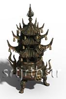 模火炉,十分炼丹的六角顶圆鼎模型、适用炉、商设计图片微图片
