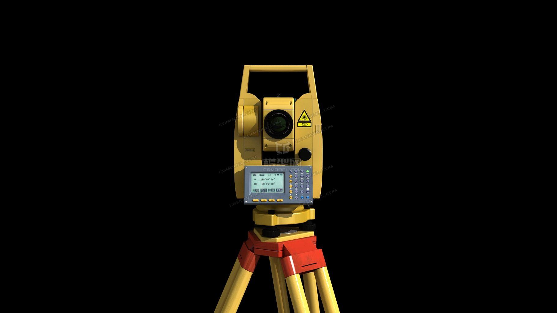 测绘仪器网_写实全站仪 全站型电子测距仪 测绘仪器 全站型电子速测仪3D模型 ...