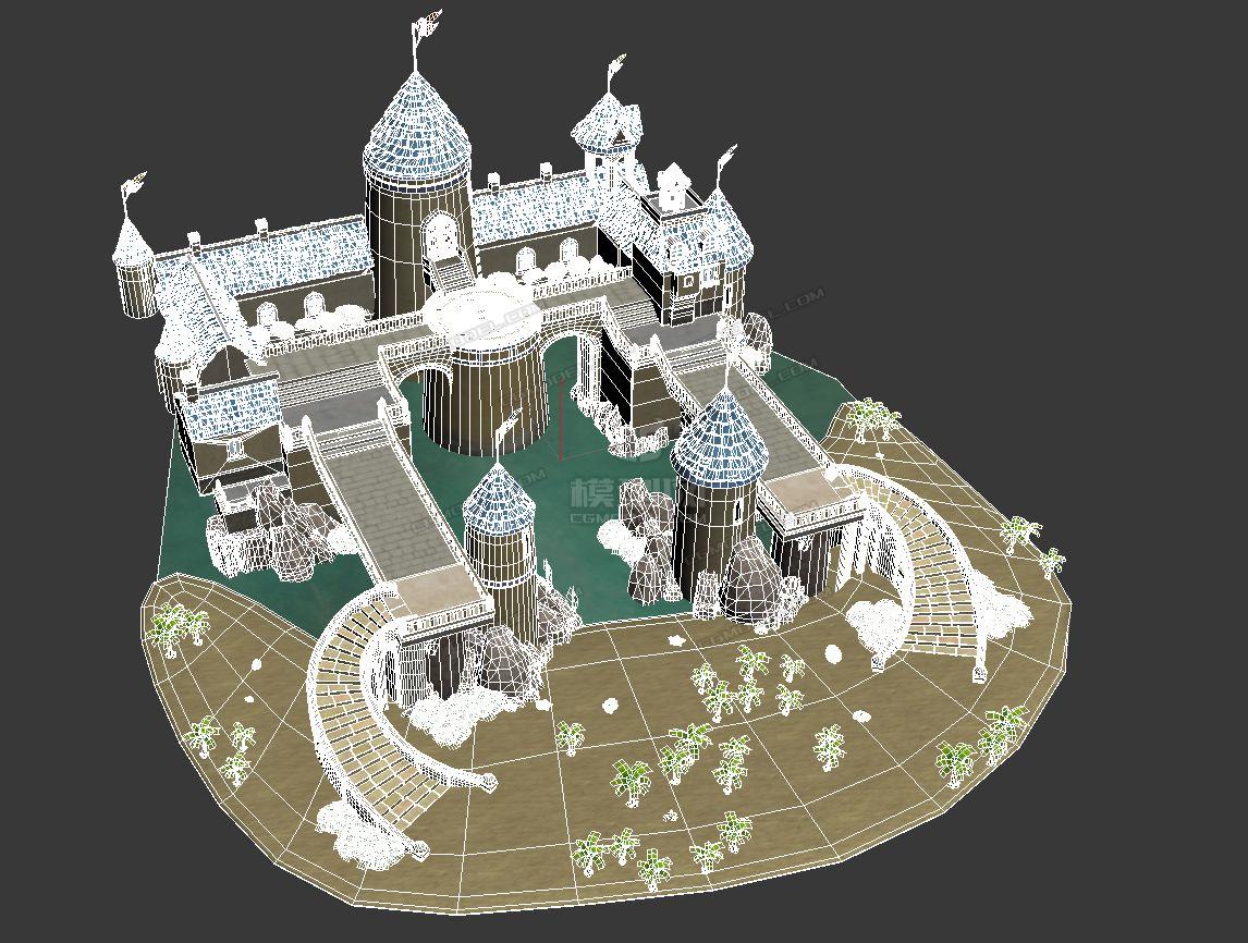 q版卡通欧式城堡