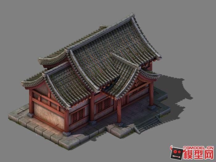 中国古建筑模型下载《有材质贴图》