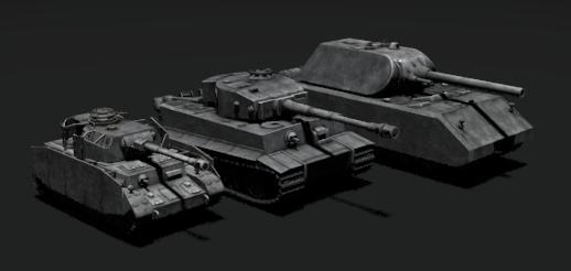 德国4号,虎式,鼠式坦克