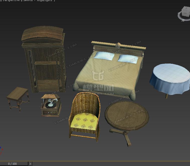 v模型模型的家具集美卖图片