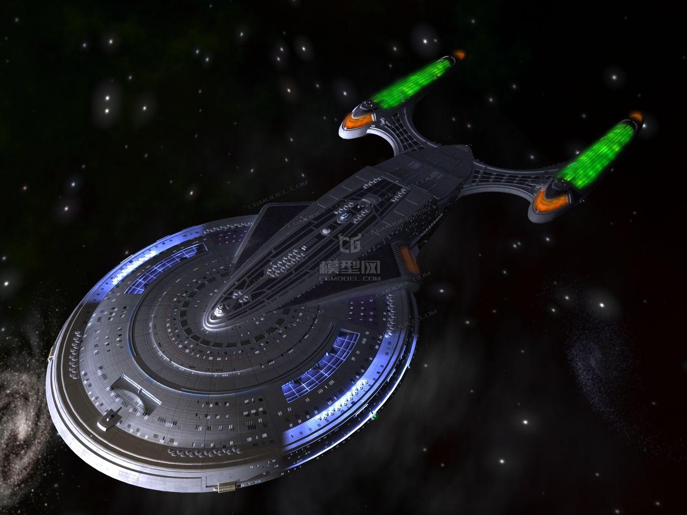 影视级科幻舰艇太空宇宙飞船航天飞机未来飞行器星际战舰ufo