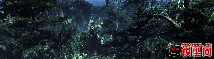 一个远古时期的森林-cg模型网(cgmodel)-专注cg模型图片