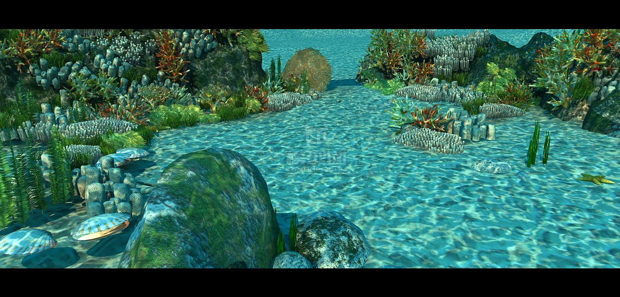精美 海底素材 珊瑚 海底石头 水草 海洋植物