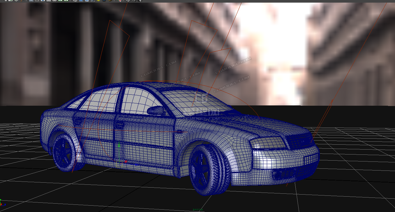 超精细写实小轿车,奥迪带材质,UV分布合理正确