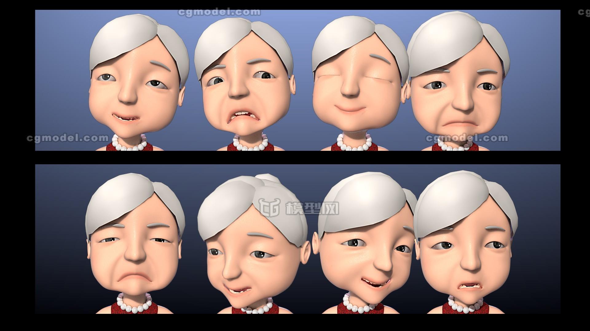 maya老奶奶,卡通角色,老奶奶,中年妇女,老年人,慈祥,白头发,裙子,妈妈