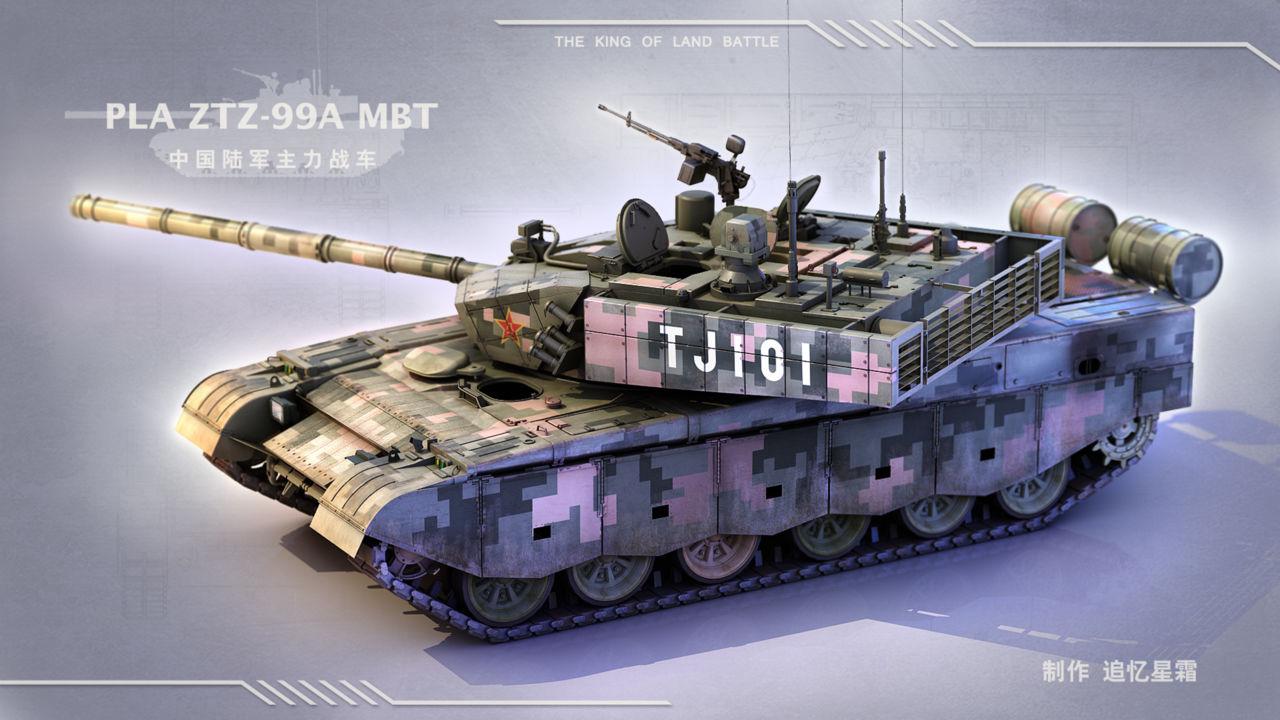 中国陆军99a主战坦克 ztz-99a mbt