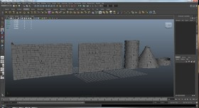 石头墙 砖头 砖块  柱子  水井