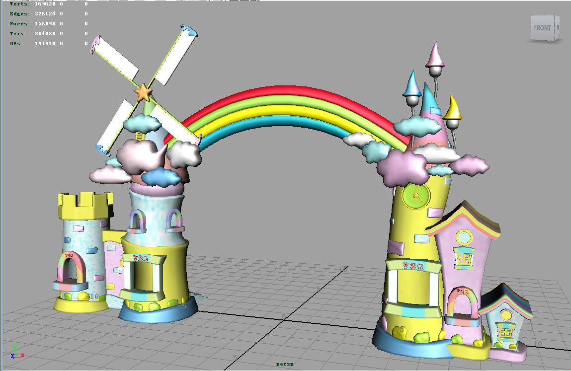 门头 大门 卡通乐园 游乐场 玩具 游乐园 公园 效果图 规划 卡通 儿童图片