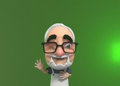 maya老爷爷 宫崎骏 老头 老年人 卡通角色绑定 表情 卡通人物 卡通图片