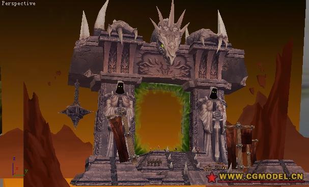 魔兽世界场景贴图_魔兽世界黑暗之门-国际游戏资源整理--djb-CG模型网