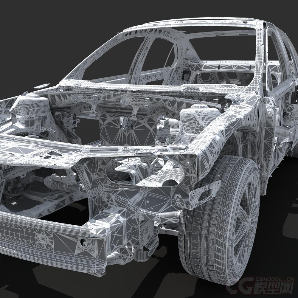 汽车用品网_汽车骨架,外壳,轿车,底盘,框架-轿车-车辆-彤0124-CG模型网