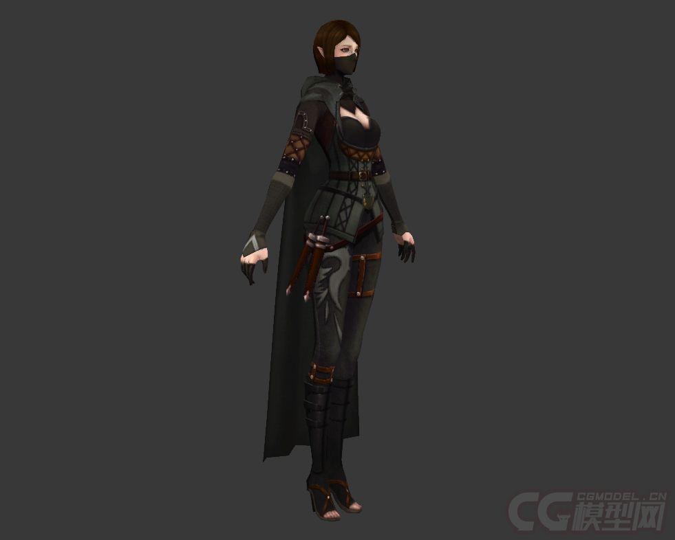 蒙面女刺客_古代人物女刺客蒙面女刺客侠女-女人-人物-猴年大吉-CG模型网