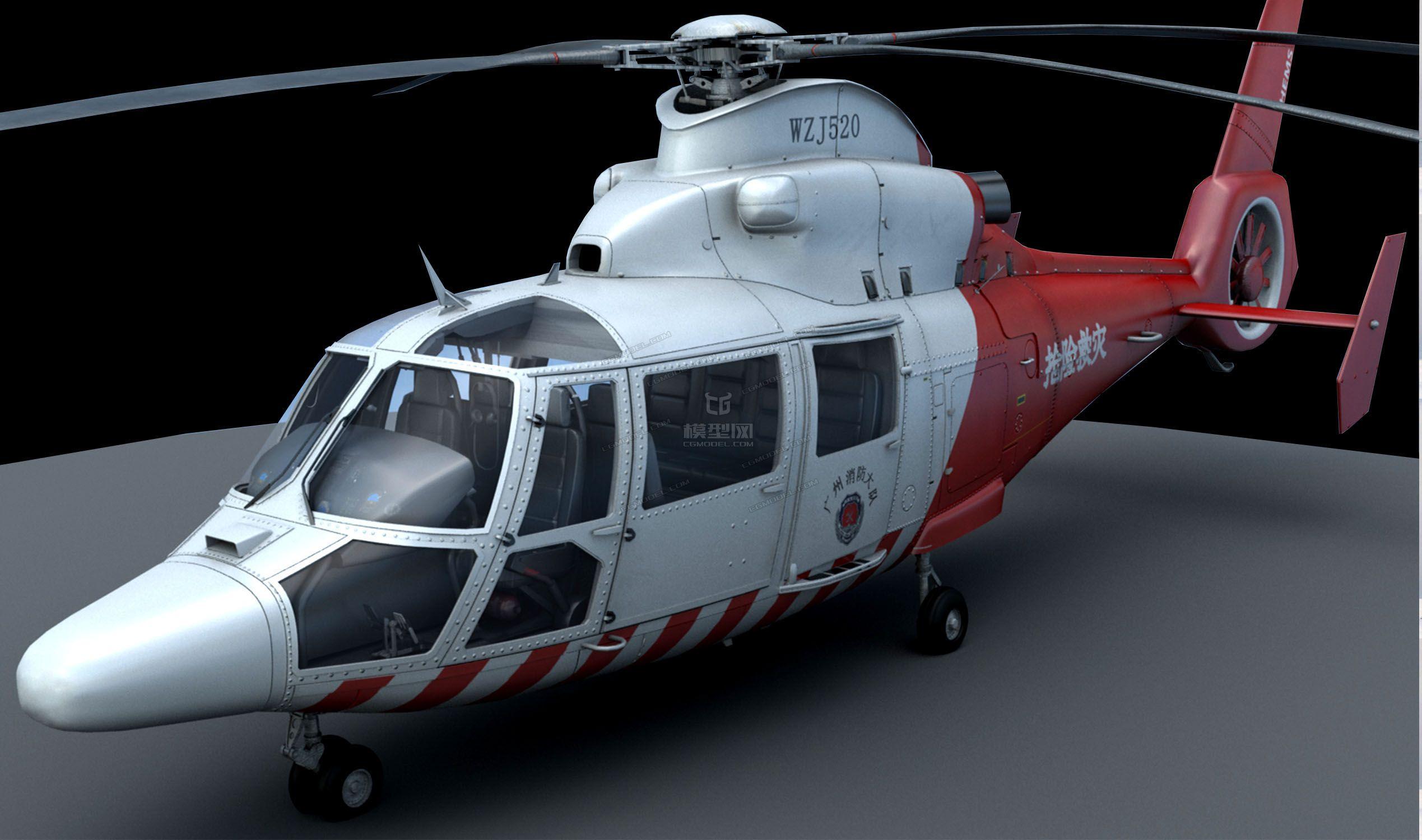 qq网络电话机_高精度救援直升机-军用直升机-飞机/航空器-798635097-CG模型网