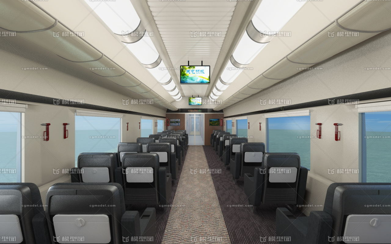 火车内部结构_复兴号高铁,高铁火车影视级模型,火车内部结构,详细的火车 ...