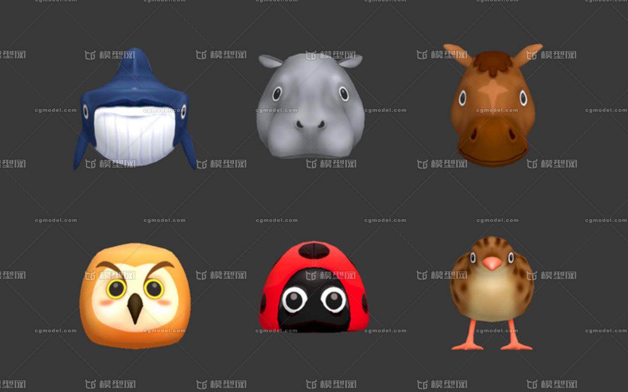 游戏岩浆贴图_卡通小动物头像 -其他-动物-3356656377-CG模型网