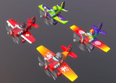 q版飞机纸模_飞机/航空器-3D模型库-CG模型网