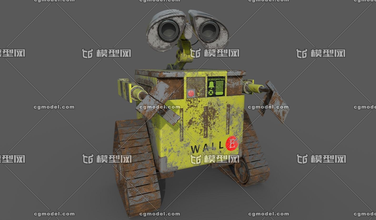 机器人瓦力_瓦力机器人-机器人/机甲-人物-FTJYDTYFDCXKYCU-CG模型网