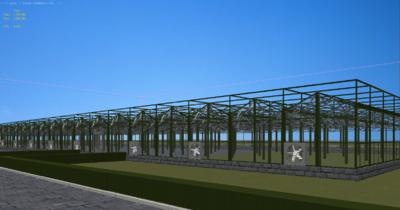 温室大棚膜_农业设施温室大棚钢架塑料膜大棚现代农业温室-公共设施-建筑